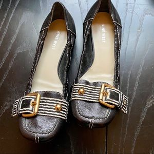 Nine West Hethcove Loafers, Square Toe Flats, 8.5